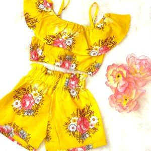 Other - Color Me Yellow Toddler Two Piece Set